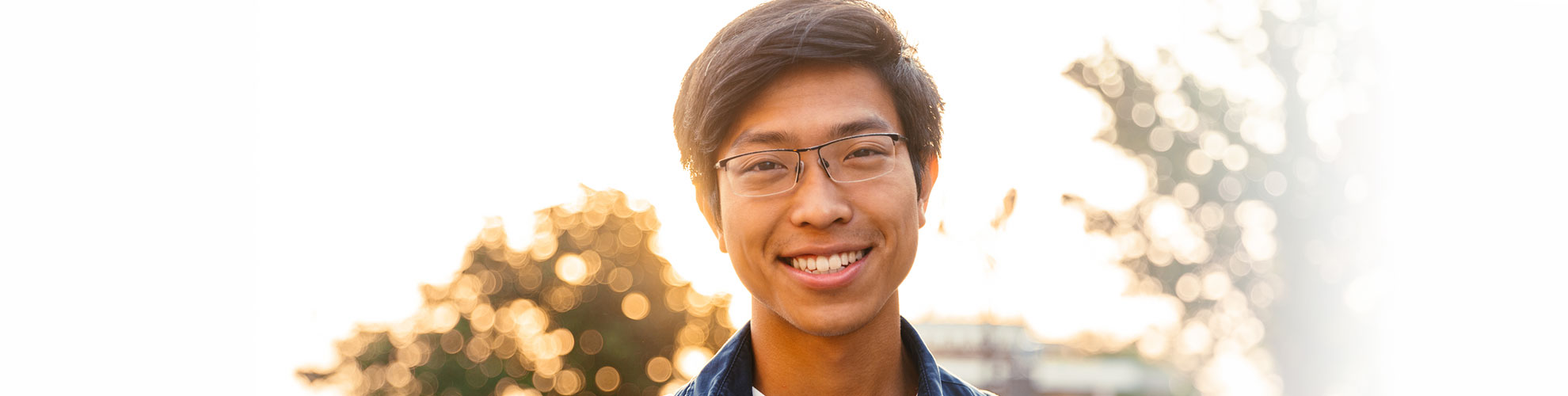young male eyeglasse